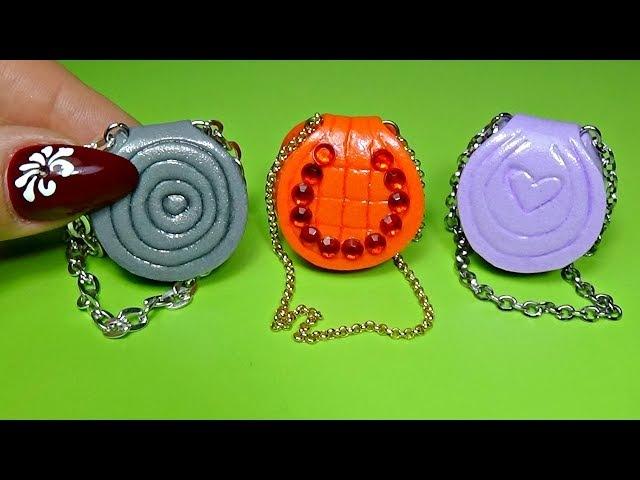 Miniature purse diy │ Miniature bag diy │ Easy miniature bag tutorial │ Doll Stuff