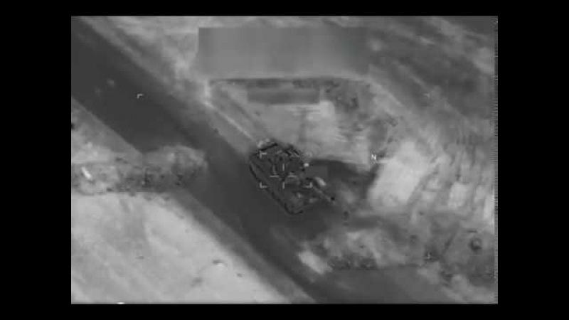 Авиаудар ВВС США по сирийским военным и подразделениям ЧВК Вагнер под Дейр-эз-Зором