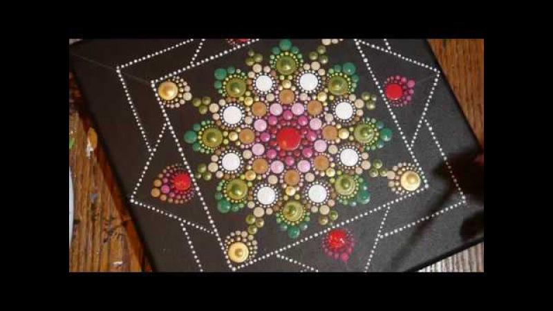 How to paint dot mandalas with Kristin Uhrig 32- Triple Rose Bud