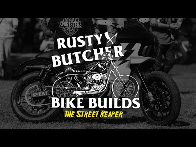 Rusty Butcher Builds The Street Reaper 100in SSCycle Sportster