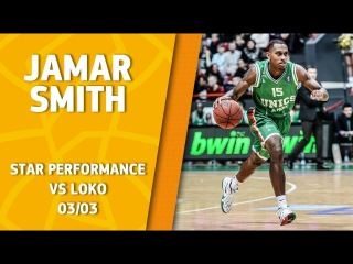 VTBUnitedLeague • Star Perfomance. Jamar Smith vs Lokomotiv-Kuban - 25 pts, 6/7 3pts, 3 ast & 3 stl!