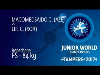 Repechage FS - 84 kg: G. MAGOMEDSAIDO (AZE) df. C. LEE (KOR) by VSU, 10-0