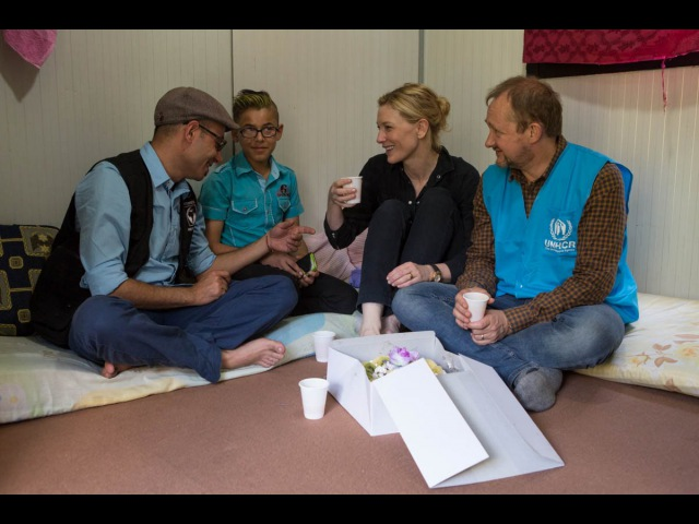 Cate Blanchett gets to know Ahmad for World Refugee Day 2015