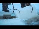 Как добывают лёд на Андреевском озере