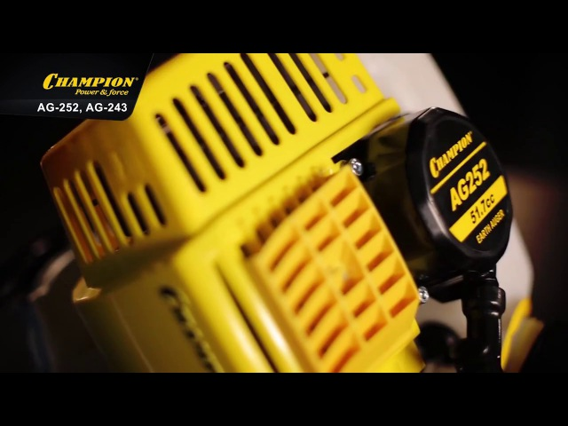 Обзор Мотобуры Champion AG 252 и Champion AG 243