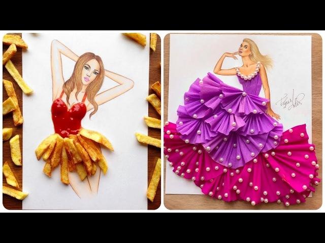 Creative Fashion Designs With Everyday Objects 💃Fashion Illustrator Creates Stunning Dresses!