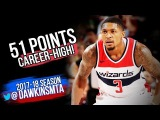 Bradley Beal UNREAL Career-HiGH 51 Pts 2017.12.05 at Blazers - 51 Pts, 21 FGM, On-FiRE!