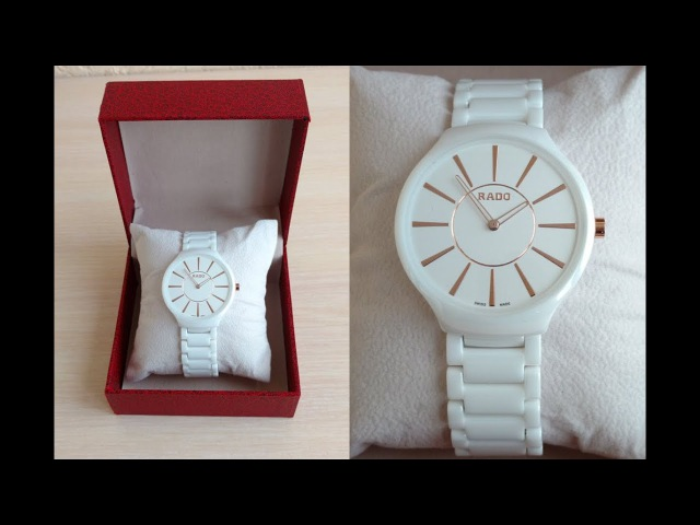 Часы Rado True Thinline Белая Керамика Кварц 38мм