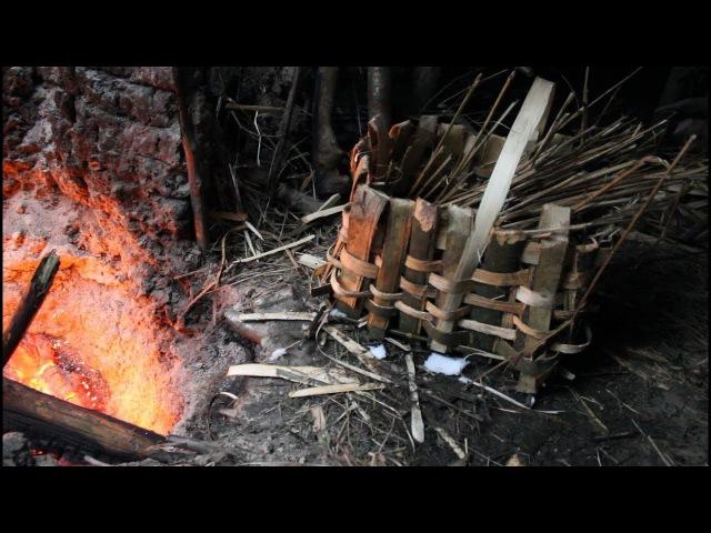 Primitive Technology Making bast basket