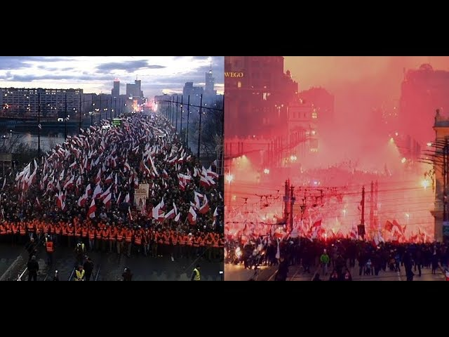Polish Independence Day MARCH 2017, shocking view! Marsz Niepodległości ZAPIS CAŁOŚCI