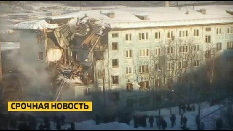 После взрыва газа в Мурманске обрушилась часть многоэтажки