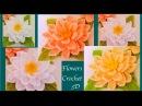 Flores tejidas a Crochet paso a paso en 3D tejido tallermanualperu
