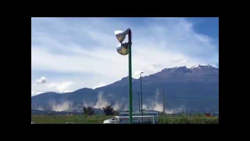Se abre grieta en el momento del sismo cerca del volcán Popocatépetl