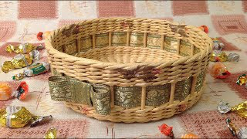 10 Мастер-класс от А до Я Корзинка из газет DIY Newspaper Basket Weaving Tutorial ENGLISH SUBTITLES