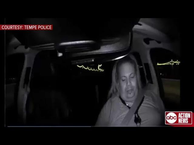 Полиция опубликовала видео, как беспилотный автомобиль компании Uber насмерть сбил женщину, которая переходила дорогу