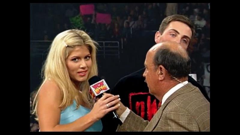 WCW Nitro 03 08 99 Torrie Wilson David Flair Goldberg Segment