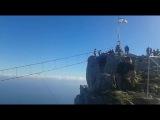 Экстремальное посещение горы Ай-Петри.   Я на вершине - 1234 метра.  Прогулка по мост...