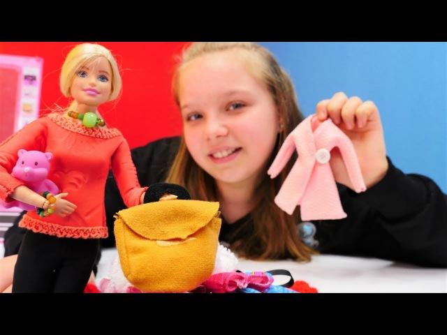 Tuana ve Barbie eski kıyafetleri ihtiyacı olana veriyor. Kız oyunları.