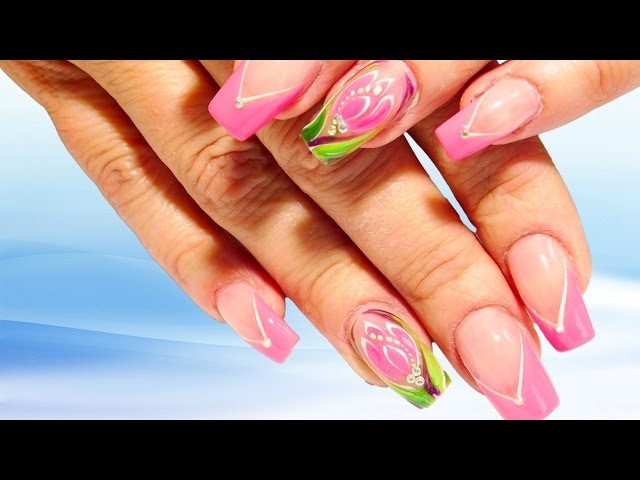 Тюльпан топовый дизайн на весенние праздники 2017 Очень простой и эффектный Nail art design manicure