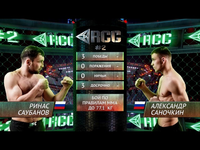 Ринас Саубанов vs Александр Саночкин / Rinas Saubanov vs Alexandr Sanochkin