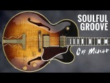 Chill Soulful Groove  Guitar Backing Track Jam in C#m