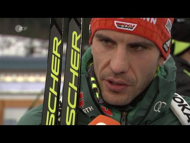 Oberhof-2018. Benedikt Doll and Arnd Peiffer after pursuit