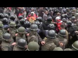 Протест Киев видео за 17.10.2017 Майдан пострадавшие масштабная драка