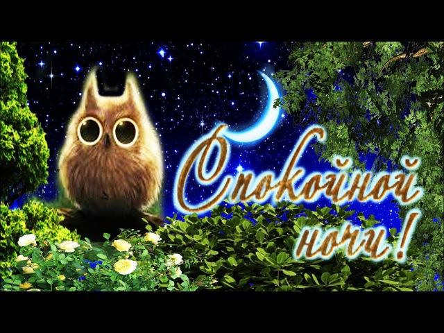 Красивое пожелание Спокойной Ночи! Стихи и музыка!