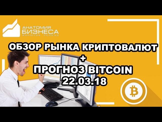 🔥Обзор рынка криптовалют на сегодня новости прогноз (Bitcoin) BTC/USD 22.03.2018