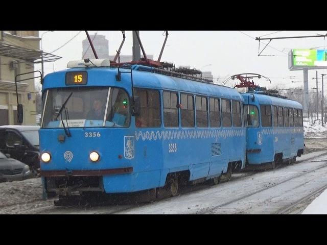 Сдвоенный трамвай Tatra-t3 (МТТА) (СМЕ) №3356 №3364 Московский Транспорт