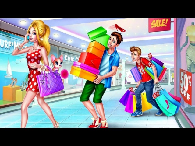 Shopping Mall Shopaholic Girls- Fun Casual Girl Games – Dress up and makeup at fashion