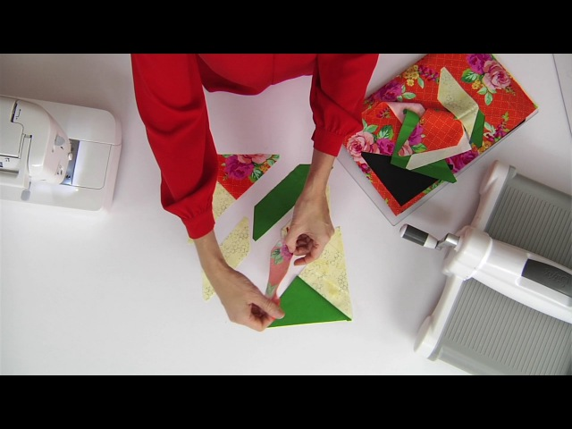 From the Sizzix Quilting Workshop: Twisting with Victoria Findlay Wolfe