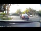 ДТП в Орле на Полесской 13082017. Лада Калина на красный протаранила Рено Логан. Мом...