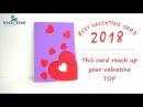 Happy Valentine Day Card Pop Up Heart Card Best Handmade Valentine Card Lina's Craft Club