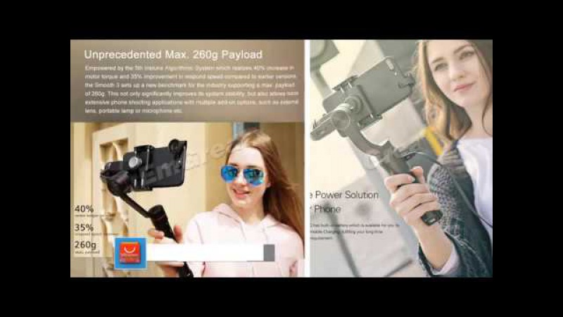 Selfie Stick Smooth smartphone Gimbal stabilizer