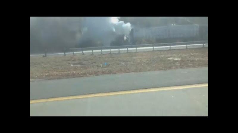 Tractor trailer fire shuts down I-66 Fair Oaks,va 2018 Xe tai boc chay tai I66