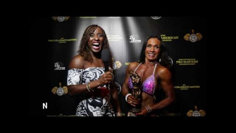 2017 NPC Masters Over 60 Overall Women's Physique Nancy Davis