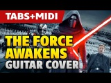 Star Wars OST The Force Awakens (acoustic fingerstyle guitar cover and MIDI by Kaminari)