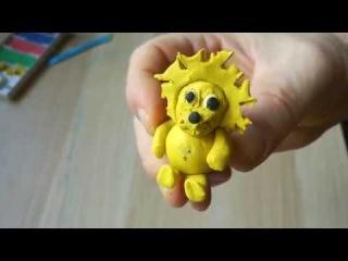 Лепим льва из пластилина