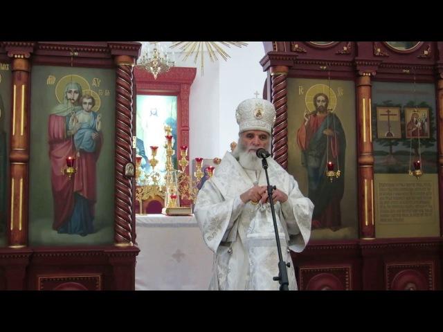 Епископ Адриан - проповедь в день памяти прп. Георгия Хозевита