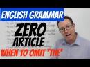 English grammar - Definite article and zero article - gramática inglesa