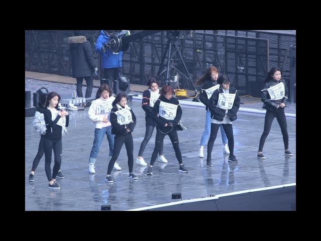 [4K] 180210 구구단 직캠사복리허설(gugudan) - The Boots @K-POP 월드 페스타(강릉원주대학교)Fancam By 쵸리(Chori