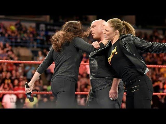 Ronda Rousey Interrupts Stephanie McMahon FULL SEGMENT RAW March 5 2018 HD