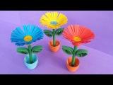 DIY Quilling Miniature 3D Flower Pot !!! How to Make 3D Flower Pot With Paper !!!