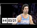 Milos Teodosic Full Highlights Clippers vs Bucks (2018.03.21) - 14 Points!