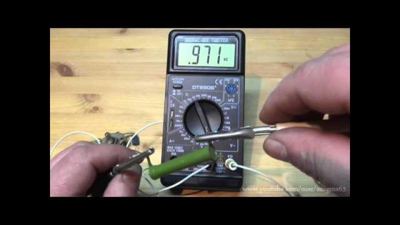 Измерения мультиметром DT890B(2-я часть)