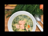 Best Salmon Soup recipe SAM THE COOKING GUY IN FINLAND