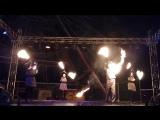 Огненное шоу в парке Счастье есть. Пермь. 4 января