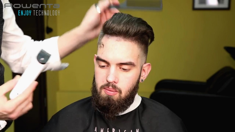 Undercut long beard (андеркат удлиненная борода)