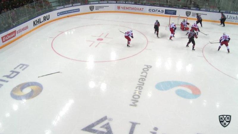 Моменты из матчей КХЛ сезона 17/18 • Авангард - Локомотив. Лучшие моменты второго периода 07.01